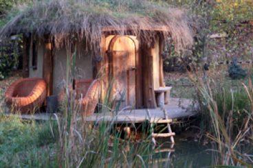 Szaunaház és fürdőtó